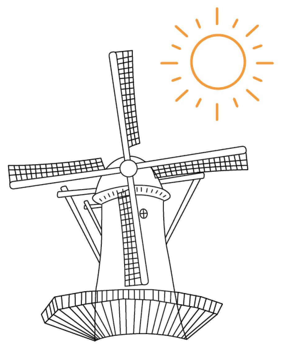 WEC - molen en zon Wassenaar